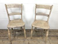 Pair of Antique Bar Back Farmhouse Kitchen Chairs (2 of 8)