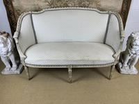 French Carved Wood Two Seat Settee (3 of 7)