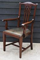 Good Quality Set of Eight Georgian Style Mahogany Dining Chairs c.1910 (4 of 12)