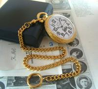 Vintage Pocket Watch 1970s Railroad 12ct Gold Plated Swiss & West Germany Nos (6 of 12)