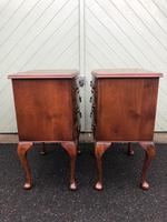 Pair of Antique Burr Walnut Bedside Chests (7 of 9)