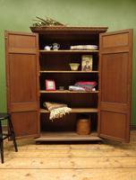 Antique Oak Linen Cupboard, Housekeepers Cupboard Larder with Shelves (7 of 16)