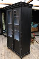 Fabulous Old Pine / Black Painted Glazed Cupboard / Display Cabinet - We Deliver! (4 of 12)