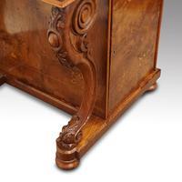 Victorian Antique Inlaid Walnut Davenport (7 of 13)