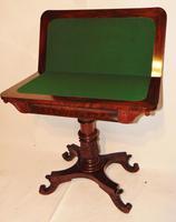 American Regency mahogany card table (3 of 9)