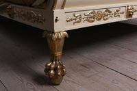 Very Rare Renaissance Style Sleigh Bed with Parcel Gilt (8 of 15)