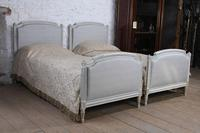 Pretty pair of large single newly upholstered beds (6 of 7)