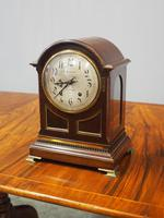 Inlaid Mahogany Mantel Clock by Hamilton & Inches (3 of 5)
