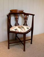 Mahogany Art Nouveau Corner Chair (9 of 10)