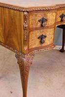 Antique Serpentine Shaped Burr Walnut Side Table (9 of 13)