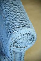 Blue Wicker Sofa (3 of 10)