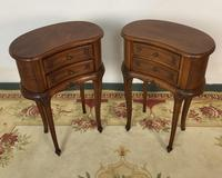 Vintage French Cherrywood Cabinets Kidney Shaped Bedside Tables (10 of 10)
