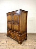 20th Century Reproduction Oak Side Cupboard (6 of 10)