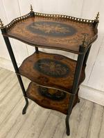 French Rosewood & Marquetry Etagere (6 of 7)
