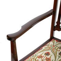 Art Nouveau Inlaid Mahogany Armchair (8 of 8)