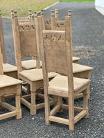 Set 8 Oak Farmhouse Dining Chairs (13 of 14)