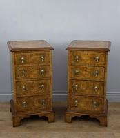 Antique Pair of Burr Walnut Bedside Chests of Drawers (2 of 8)