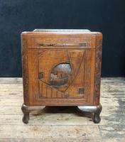 Oriental Carved Teak & Camphor Wood Chest - 1930s (12 of 15)