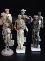 Most Attractive Set of 6 Mid 19th Century Indian Plaster Figures (3 of 3)