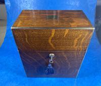 Victorian Brassbound Oak Decanter Box (7 of 20)
