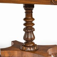 Companion Pair of William IV Flame Mahogany Card Tables (3 of 13)