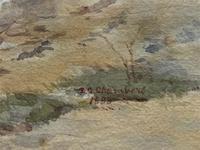 Large Original 19th Century Antique Yorkshire Landscape Watercolour Painting (4 of 11)