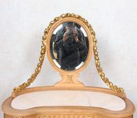 Neoclassical Marble Dressing Table Gilt Mirrored Vanity Satinwood (5 of 14)