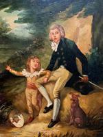 Lovely 18th Century Georgian Revival Gilt-Framed Oil on Panel Portrait Painting (2 of 8)