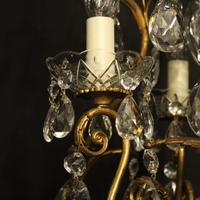 French Gilded Birdcage 4 Light Antique Chandelier (3 of 10)