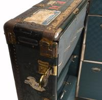 Vintage Steamer Trunk Luggage Case Harrison and  Co New York (24 of 28)