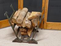 19th Century Blacksmith Made Inglenook Iron Log Carrier (7 of 7)