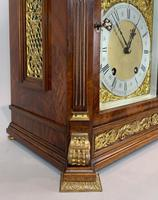 Fine quality burr walnut bracket clock by Lenzkirch of Germany, with a quarter chiming movement c.1903 (8 of 14)