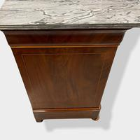 Exceptional Quality Inlaid Marble Top Commode (10 of 12)