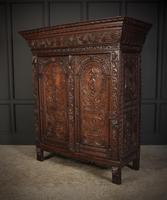 Profusely Carved Oak Cupboard (6 of 15)