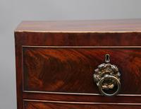 19th Century Flame Mahogany Bowfront Chest of Drawers (6 of 6)
