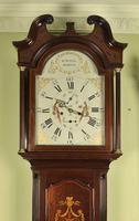 Mahogany Painted Dial Inlaid Longcase Clock - William Bownlie of Hamilton