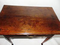 Georgian Elm Pad Foot Side Table (2 of 7)