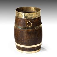 Mid 19th Century Coopered Oak Barrel (3 of 3)