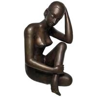 Art Deco Style Nubile African Tribal Bronze Nude Lady Statue Sculpture (2 of 28)