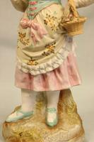 Antique Large Bisque Figurine of Young Girl (9 of 12)