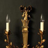 Italian Pair of Giltwood Palladio Wall Lights (3 of 10)