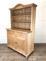 Antique Pine Country Dresser with Shaped
