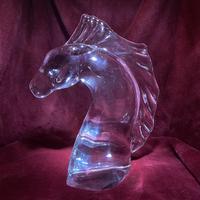 "Daum ""tete de Cheval"" Crystal Horse Head Sculpture c.1960 (4 of 9)"