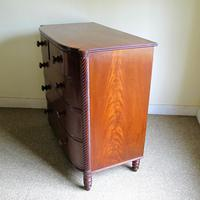 Mahogany Bow Front Chest of Drawers (6 of 6)