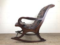Brown Leather Chesterfield Style Rocking Chair (12 of 15)