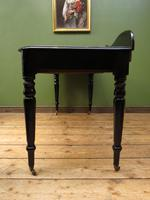 Antique Black Ebonized Console Table with Drawers & Moustache Back (11 of 22)