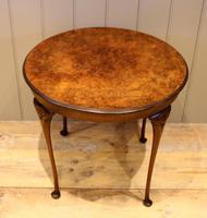 Low Circular Walnut Table (7 of 9)