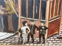 """Figurative Art Oil Painting Manchester Market Place """"The Street Traders"""" by Patrick Burke (9 of 34)"""