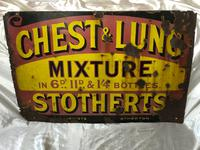 Large Rare Medicine Chemist Stotherts Atherton Chest & Lung Mixture Enamel Sign (20 of 21)