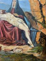 Pair of 19th Century Religious Old Master Oil Paintings - Set of 14 Available (31 of 32)